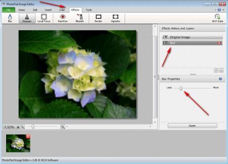 PhotoPad editing image