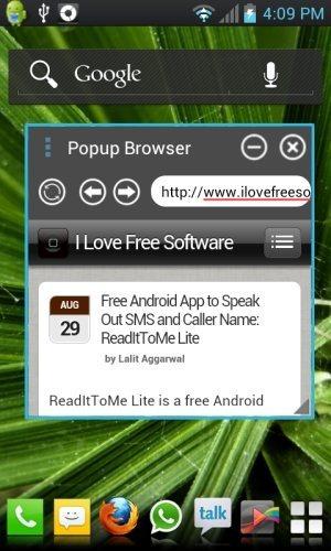 Popup Browser