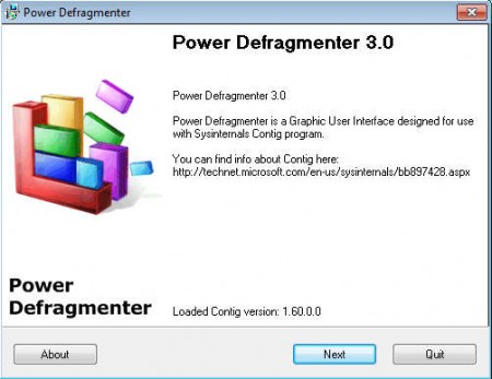 Power Defragmenter default window