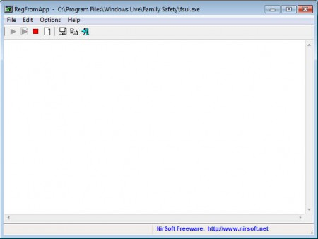 RegFromApp empty window
