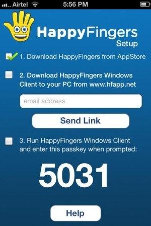 SMS PC HappyFingers App
