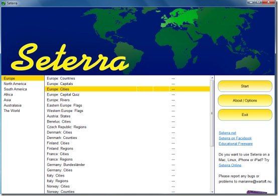 Learn Maps Using Free Map Quiz Game Seterra