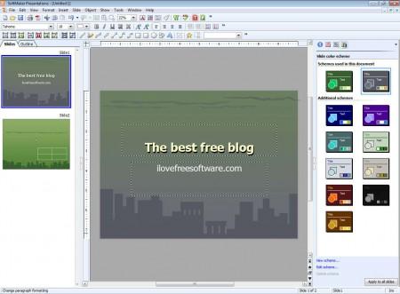 SoftMaker FreeOffice presentation default