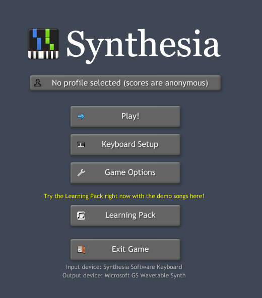 Synthesia default window