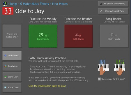 Synthesia selecting song progress