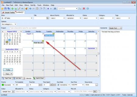 ToDoList calendar