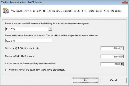 Toolwiz Remote Backup 2012 config