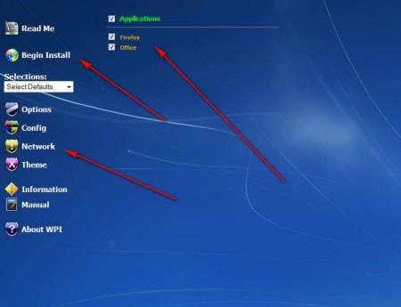 Windows Post Install Wizard list begin install