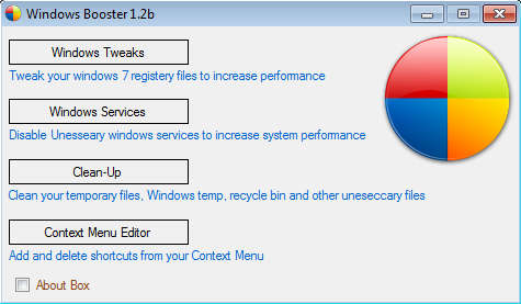 Windows7 Booster default window