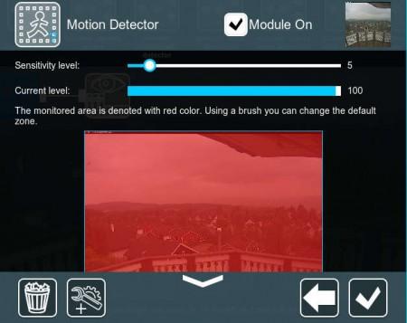 Xeoma motion detector