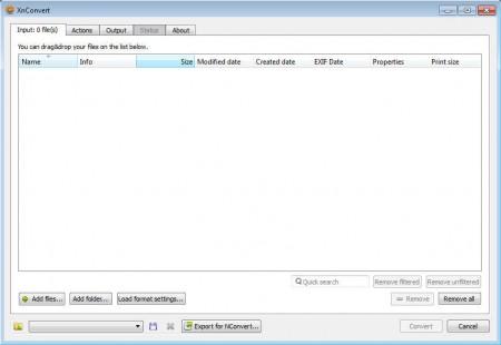 XnConvert default window