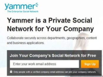 Yammer Home Page