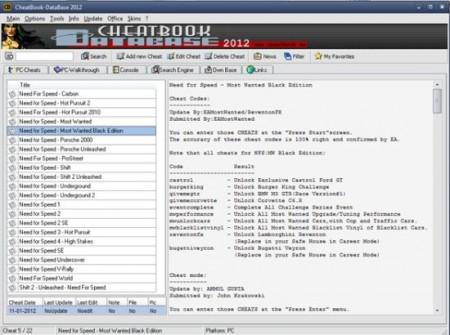 Cheatbook Database
