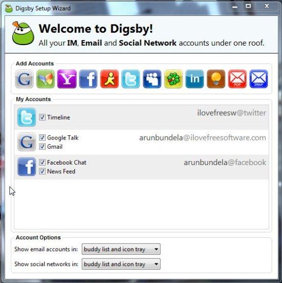 digsby add accounts