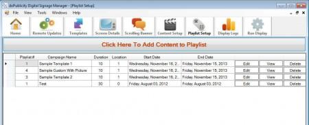 doPublicity content playlist