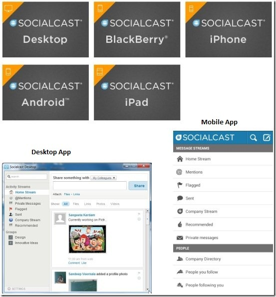 socialcast apps
