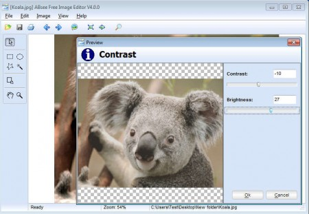 ABsee Free Image Viewer editor opened