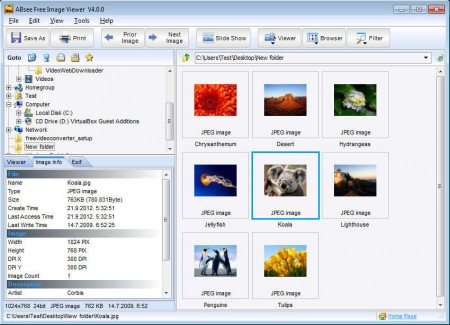 ABsee Free Image Viewer opened collection