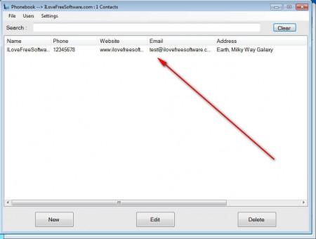 BizBook contac added