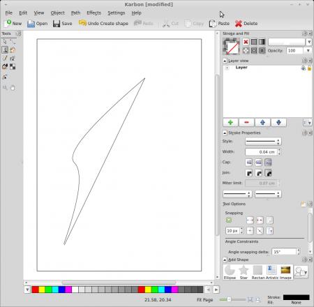 Calligra Karbon default window