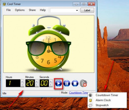 Cool Timer setting up