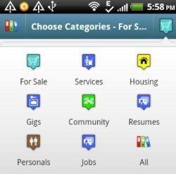 Craiglist Categories