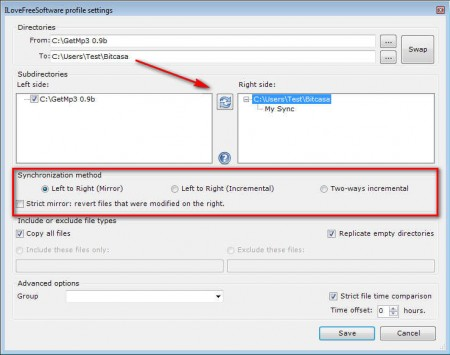 Create Synchronicity setting up backup