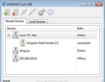 Daemon Tools USB share USB network