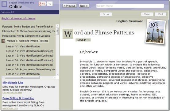 EnglishGrammar101 learn grammar