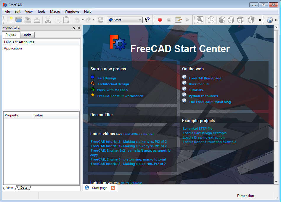 free cad application to create and edit 3d objects  freecad