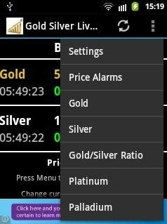 Gold Silver Live Prices App