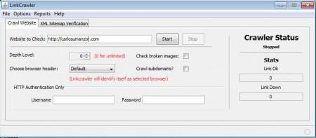 Link Crawler default window