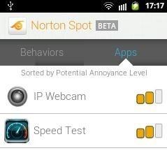 Norton Spot Ad Detector App Sort