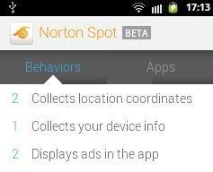 Norton Spot Ad Detector Behavior