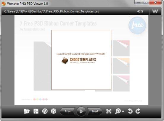 PNG PSD Viewer