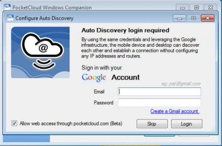 PocketCloud Remote Desktop default window