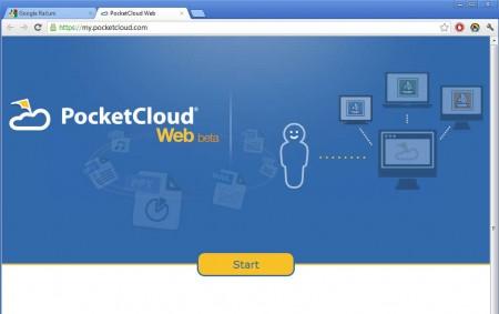PocketCloud Web browser access