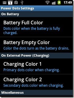 Power Dots Settings