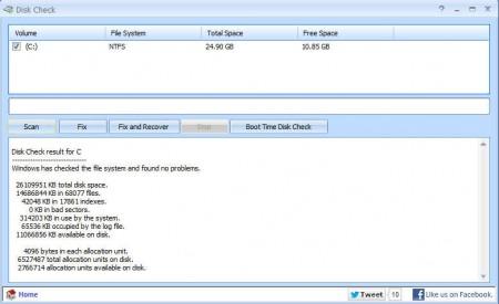 Puran Utilities disk check