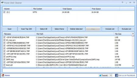 Puran Utilities disk cleaner