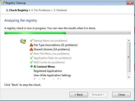 Registry Life cleanup scanning
