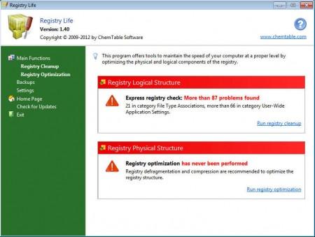 Registry Life default window