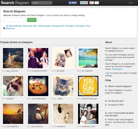 Search Stagram default window
