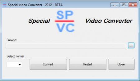 Special Video Converter default window
