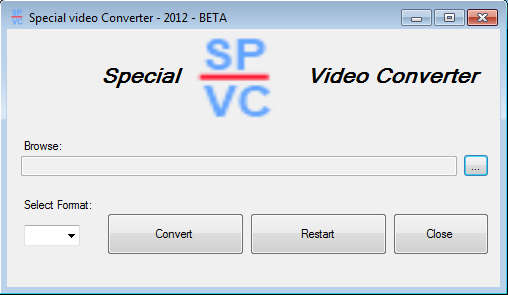 Special Video Converter default window