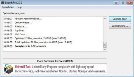 SpeedyFox after optimization