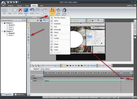 VSDC Free Video Editor editing video