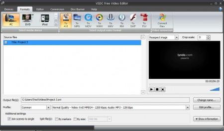 VSDC Free Video Editor exporting video