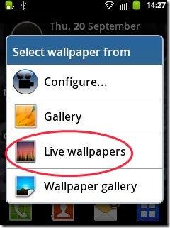 Video Live Wallpaper option
