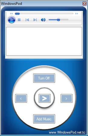 WindowsPod default window